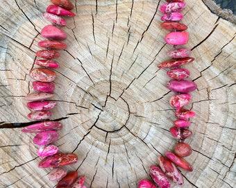 Pink Rocker Boho Necklace