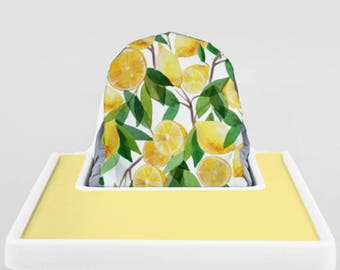 Lemon // IKEA Antilop Highchair Cover // High Chair Cover for the KLÄMMIG or PYTTIG Cushion // Pillow Slipcover