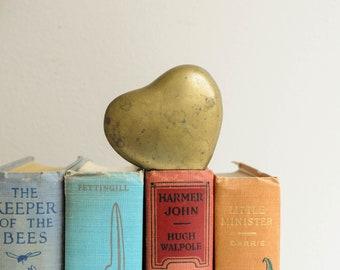 Vintage Petite Brass Heart Box