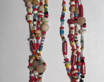 African love beads necklace; summer or winter fantastic accessory; Fair Trade; conservation