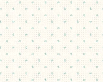 Bee Backgrounds Daisy Teal by Lori Holt from Riley Blake