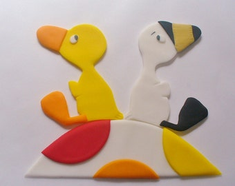 3 pc DUCK GOOSE Edible Fondant Cake Decorations