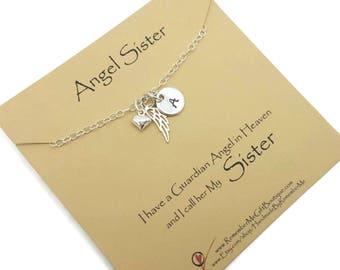 Angel Sister, Loss of Sister, Death of Sister, Memorial Gift, Sympathy Gift, Memorial Jewelry, Sympathy Jewelry, Gift for Loss of Sister