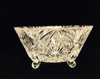 Cut Glass Footed Bowl