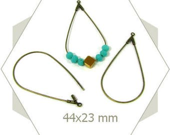 12 basic hoop drops bronze AB33 earrings