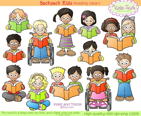 kids reading clipart kids clip art children reading school clip art rh etsystudio com Guided Reading Clip Art Reading Words Clip Art