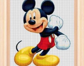 Mickey Mouse - cross stitch pattern - cross stitch disney - disney mickey - mickey mouse - disney pattern - PDF pattern - Instant Download!