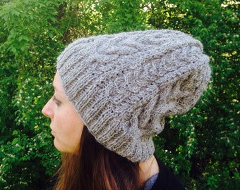Lace and cable slouchy