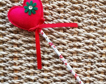 Flower Girl Sweetheart Fairy Wand in red
