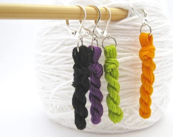 Snag Free Marker, Stitch Marker, Removable Marker, Crochet Marker, Knit Marker, Halloween Marker, Knitting Gift, Knitting Tool, HC201