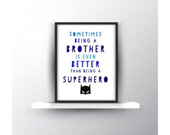 Big Brother Superhero print