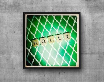 HOLLY - Name Art - Scrabble Tile Name - Art Photo - Photography Art Print - Name Sign