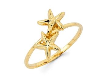 14k Starfish Ring, 14k Gold Starfish, Gold Starfish, Starfish Ring, Gold Ring, 14k Starfish, Starfish, Starfish Jewelry, Rings