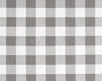 One Custom Tailored King/Queen  Bedskirt  -  Checks Plaid -  Storm Grey / Red / Black / Ecru