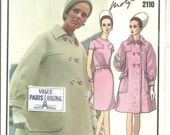 2110 vogue Paris Original Coat Dress Molyneux sz 12