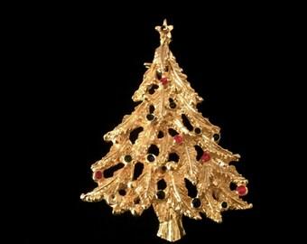 Vintage Christmas Tree Brooch              VG2319
