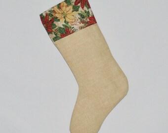 Poinsettia Christmas Stocking