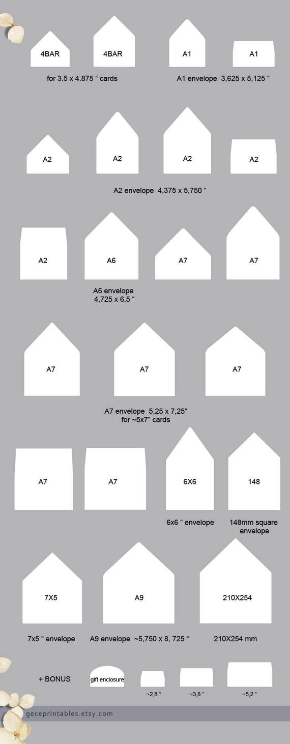 Confetti Envelope Liner Template Printable Envelope