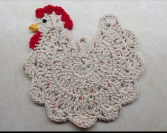 Crochet Chicken Potholder pattern (For Decoration Purpose Only) DIGITAL DOWNLOAD ONLY