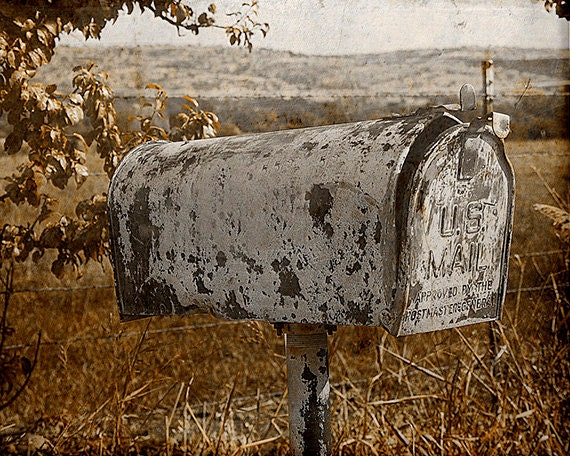 Antique Mailbox Digital Photography Download Instant