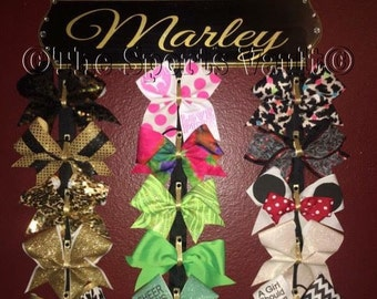 6x24 inch wood plaque 30 CHEER BOW holder