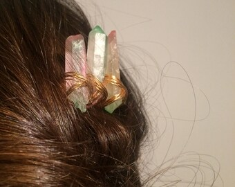 Quartz Fairy Queen Hair Comb