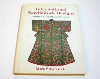 International Needlework Designs By Mira Silverstein, Vintage Book