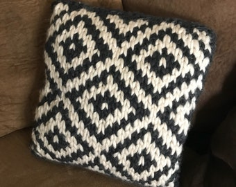 Knit Desert Style Throw Pillow