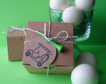 Golf Ball Soap Set - Goat milk Soap - Black for Men Type Scent - Gift for Him - Fathers Day  - Novelty - Handmade - Shaped Soap - Easter