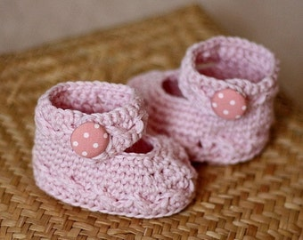 Crochet PATTERN - Polka Dot Baby Mary Janes