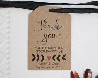 Wedding Thank You Tags - Wedding Favor Tag