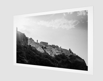Santorini Hill Fine Art Print, 1:50 Limited Edition / black and white / photography / photo / home decor / decoration / wall art / cliff