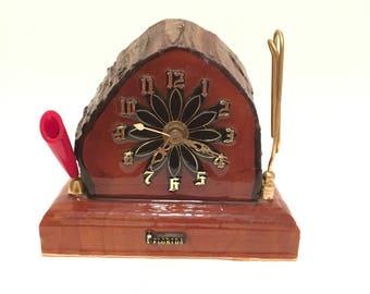 Florida Souvenir Cypress Desk Clock