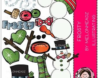 Build a snowman clip art - Frosty