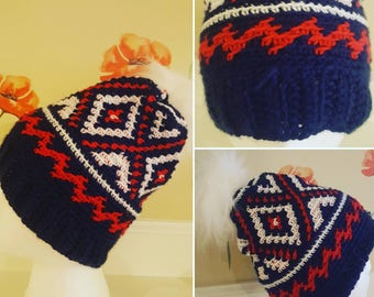 Winter Olympics 2018 beanie hat.  Proceeds go to charity.