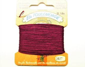 "Embroidery threads ""Retors du Nord"" number 2027 20-meter cards"