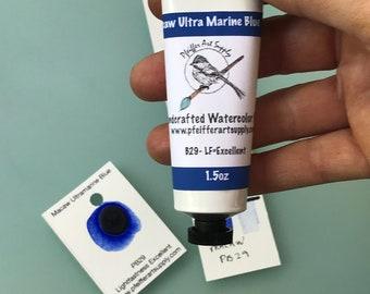 Watercolor Handmade Tube Paint Macaw Ultramarine Blue  1.5 oz( 44 ml)