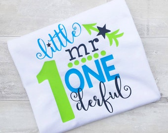 1st Birthday - First Birthday Outfit - Boys First Birthday -  One Boy - Birthday Shirt - First Birthday Top - Baby Clothing