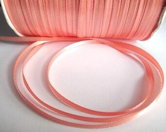 20 m salmon 3mm satin ribbon