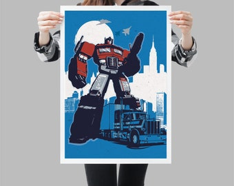Retro Transformers Optimus Prime Poster - Available in different sizes. Check the drop-down menu for your choice. Fan Art geek print