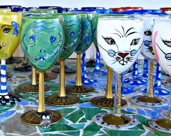 Alice in Wonderland Party Glasses. Made To Order. Party Favor Alice in Wonderland Glasses