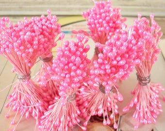 Sale / Vintage Flower Making Supplies / Double-Ended Stamen Pips-Peps / Set of Six / Flower Stamens / Millinery Supplies / Flower Centers