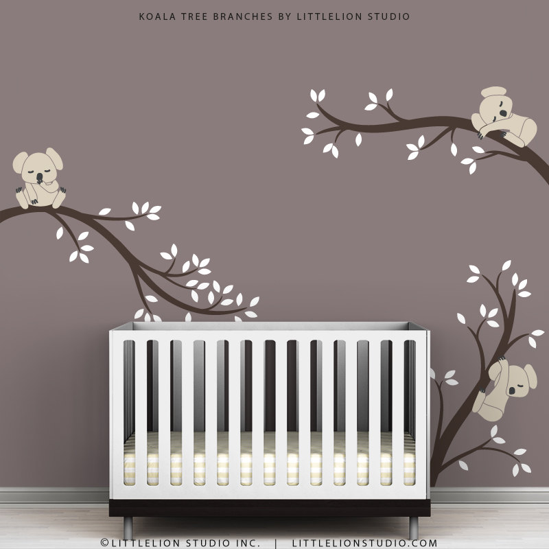 Kids Wall Decals Modern Cute Baby Room Tree Wall Sticker - Baby room decals