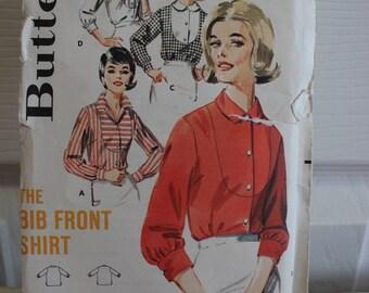 Vintage-Muster, Butt 3080, Jahrgang Butt, ungeschnitten Muster, verfehlt Muster, Damen Top Muster, Größe 18 Muster, Lätzchen Shirt Muster