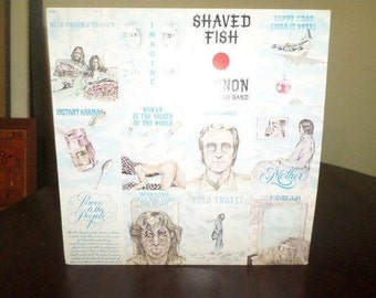 Vintage 1978 Vinyl LP Record Shaved Fish John Lennon Plastic Ono Band Very Good Condition 7133