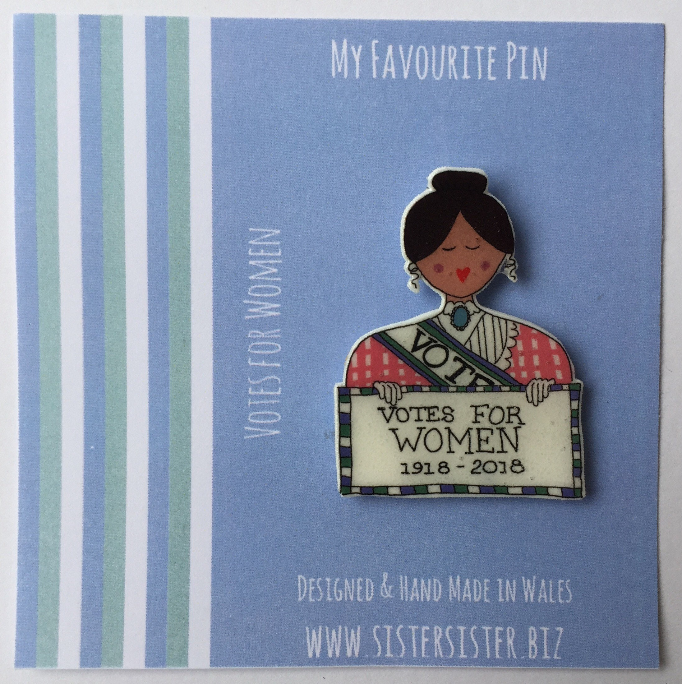 Suffragette Pin, Badge, Hand Made, Votes For Women, Mothers Day,