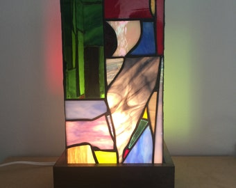 Eclectic Stained Glass Lamp