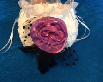 Flower Girl Basket, White Flower Girl Basket, Flower Girl Basket Bling
