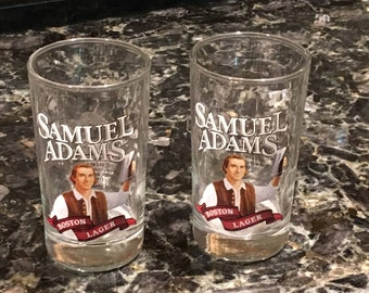 2 Samuel Adams Beer Glasses(sold as a set)