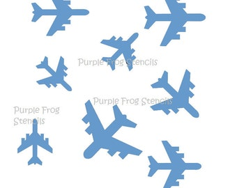 STENCIL (Reusable) Jets, Airplanes Different Sizes Available